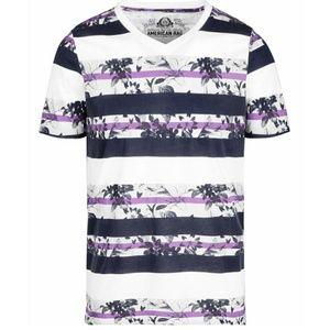 NWT American Rag mens Stripe & Floral T-Shirt. XXL